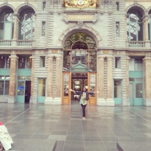 This is a picture taken at Antwerp Central station.