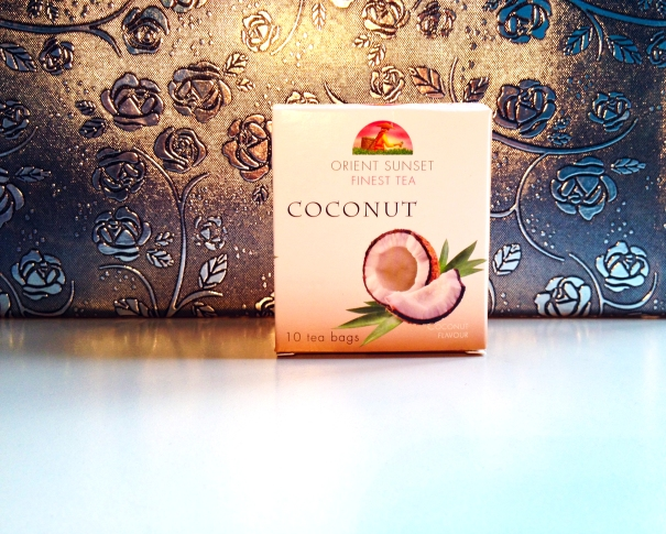Coconut tea review by Marustan. Orient Sunset Finest tea