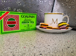 Goalpara tea with candy photo